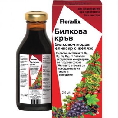 Floradix Билкова Кръв - Билково-плодов еликсир с желязо, 500ml