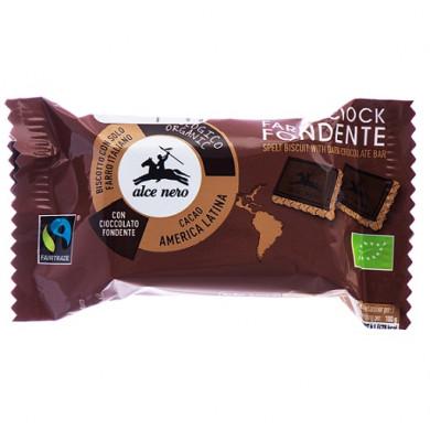 Био Бисквити от Спелта с Тъмен Шоколад 28g