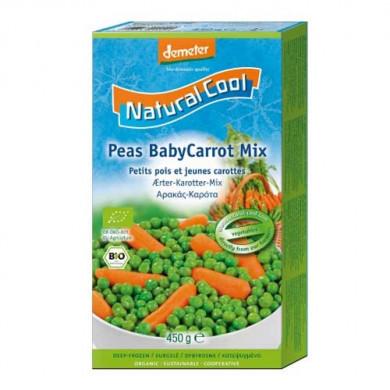 Био Грах и бейби моркови замразени 450g